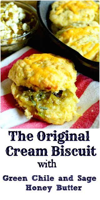 Flour, heavy cream, a pinch of salt and baking powder are the ingredients for cream biscuits. Add in some cornmeal and a few seasonings and one has cowboy biscuits. Both versions are awesome! #biscuits #bread www.thisishowicook.com
