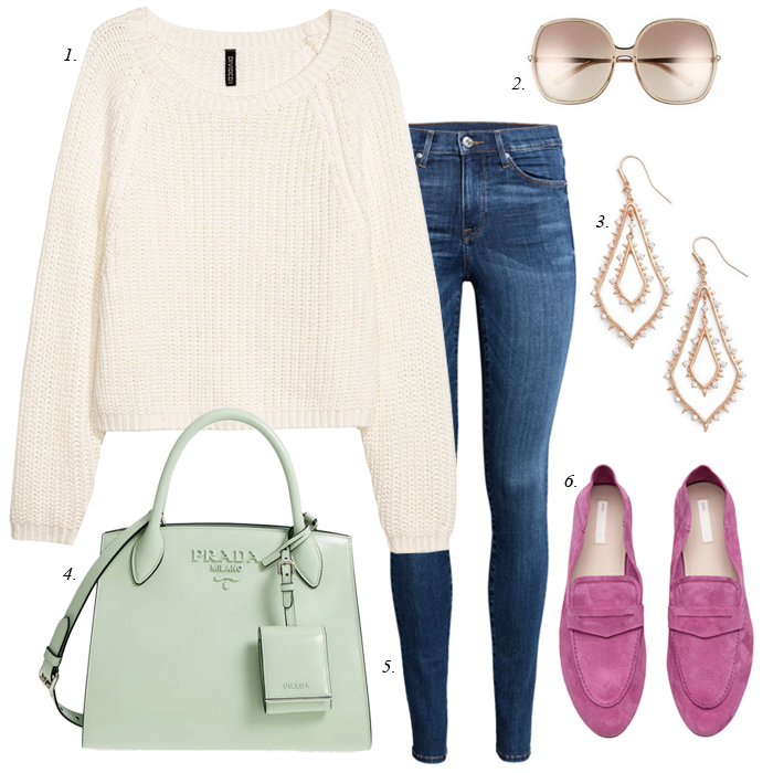 pink loafers spring outfit