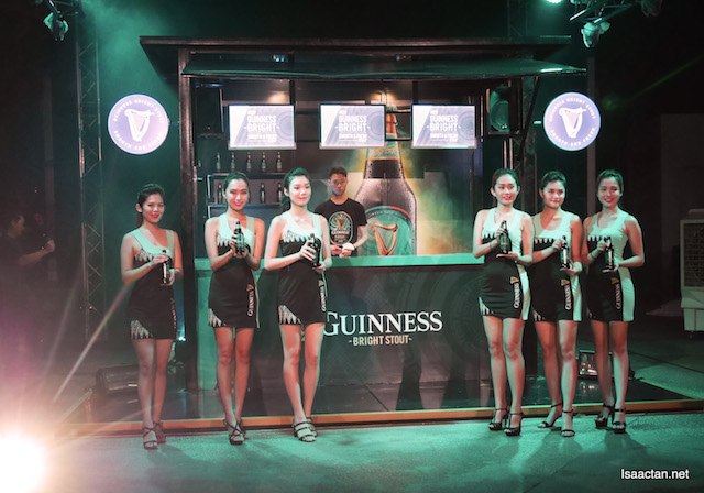 Pretty ladies with their Guinness Bright