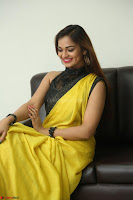 Cute Actress Ashwini in Yellow Saree Exclusive  043.JPG