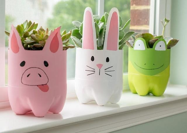 Vasos de Garrafa Pet Porco