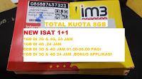 Perdana data indosat 2gb ( 1gb + 1gb ) kuota 2 gb
