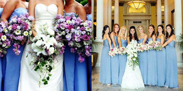 madrinhas de casamento azul