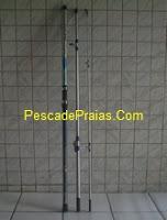 Foto de uma vara para Pesca de praia estilo barra pesada de grafite 3 partes tamanho 3,90 tres metros e noventa de altura