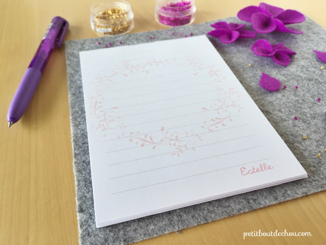 make your own personalised notepad diy