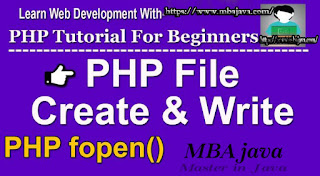 how to write notepad files in PHP and overwrite information in txt