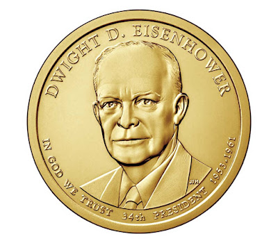Dwight D. Eisenhower, 34th President of the United States 2015 US Presidential One Dollar Coin