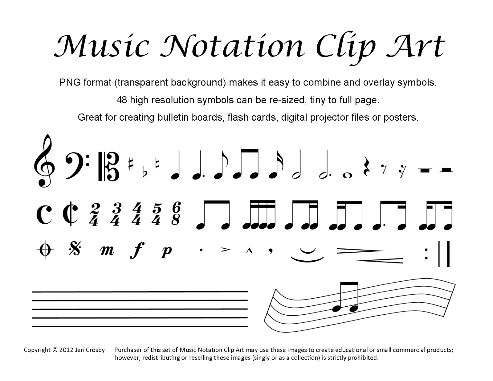 clip art music notation - photo #38