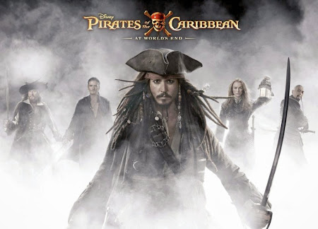 Poster Of Pirates of the Caribbean: At World's End In Dual Audio Hindi English 300MB Compressed Small Size Pc Movie Free Download Only At worldfree4u.com