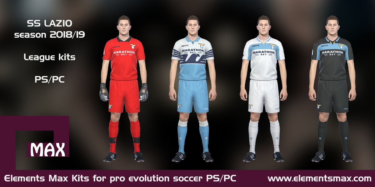 Elements MAX Kits: Lazio PES Kits 2018/19