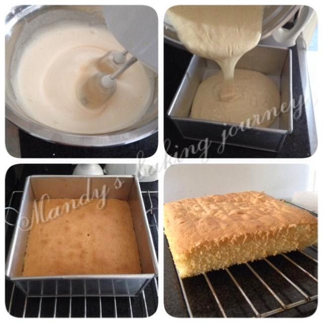 Ingredients For A  Inch Square Sponge Cake  Layers