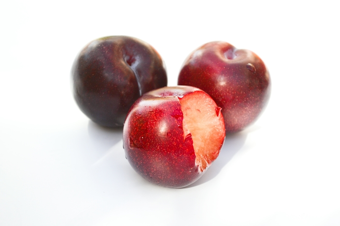Metis® is a new fruit which is a natural blend of a plum with a little bit of apricot.