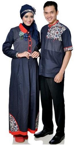 Koleksi model baju muslim lebaran 2016 batik gamis Baju couple gamis dan koko