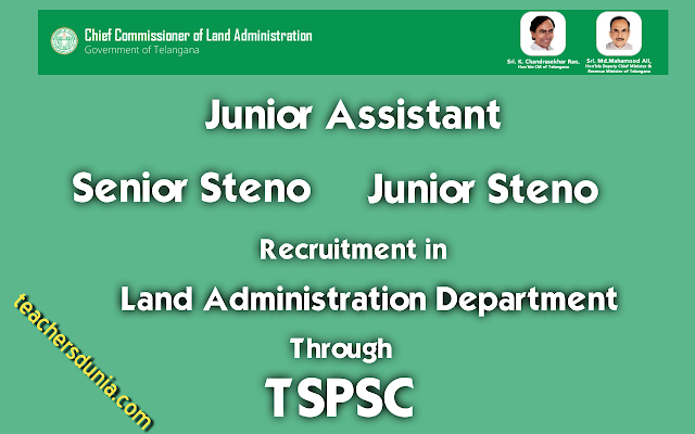 TSPSC-Junior-Assistant-Steno-Recruitment-In-Land-Administration-Department