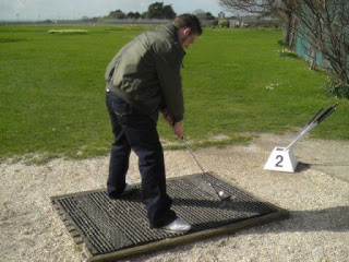 Richard pitching on hole 2 at the Southsea Golf Links