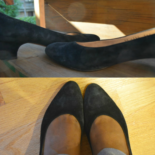 suede Ferragamo pumps for sale in etsy The Thriftanista Closet