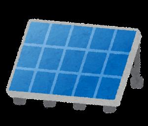 ソーラーパネルのイラスト(ひとつ)