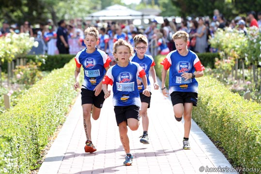 Down the first straight - Participation and the promotion of healthy lifestyles were the aim of the game at the Sanitarium Weet-Bix Tryathlon at Frimley Park in Hastings. photograph