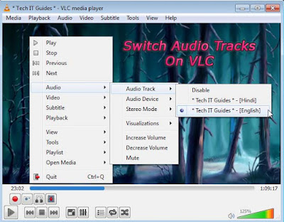 Switch Audio Tracks on VLC