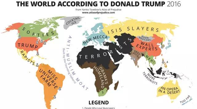 Seniman Ini Melukis Peta Dunia Versi Donal Trump Indonesia Di Cap Jelek
