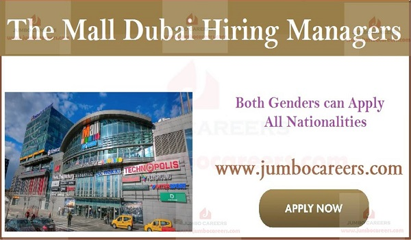 Available jobs in Gulf countries, Mall job openings in UAE,