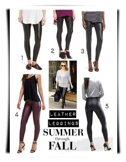 spanx leather leggings summer to fall transition fashion blog