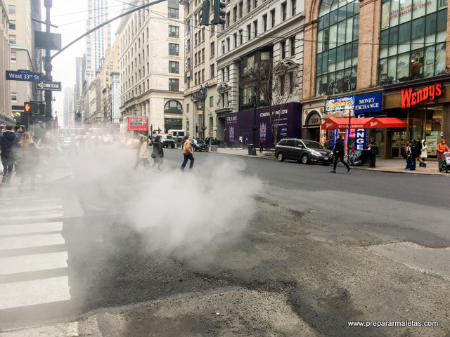 el humo de las calles de nueva york