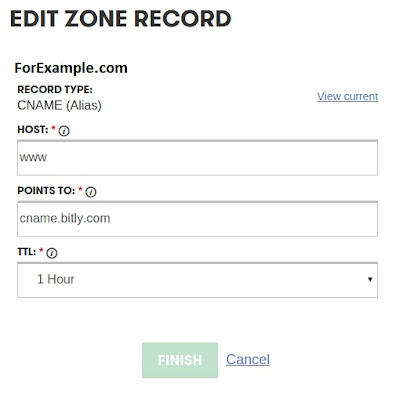 a(cname) edit zone record
