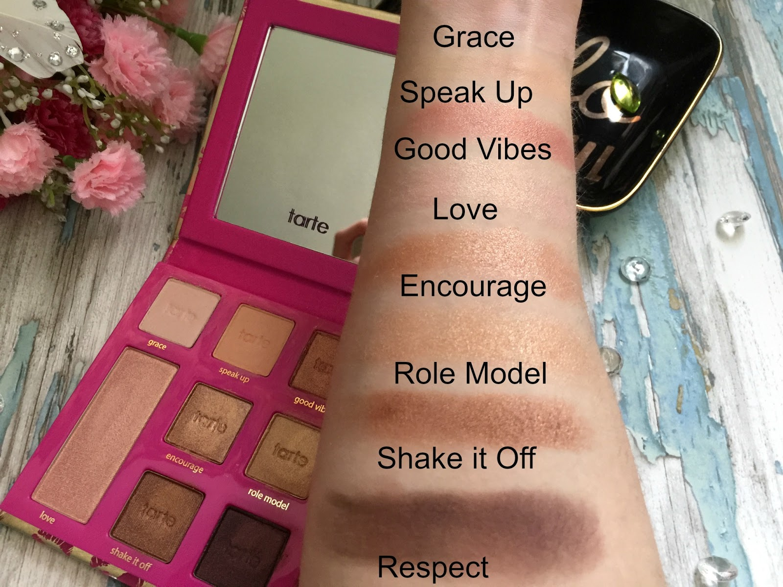 tarte leave your mark eyeshadow palette swatches
