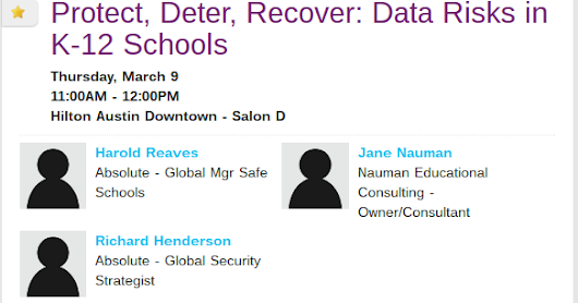 Protect, Deter, Recover: Data Risks in K12 Schools #SXSWedu