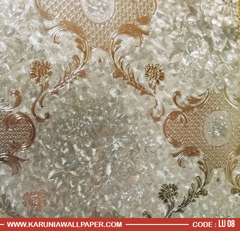 jual wallpaper dinding 3 dimensi emas metalik karuniawallpaper