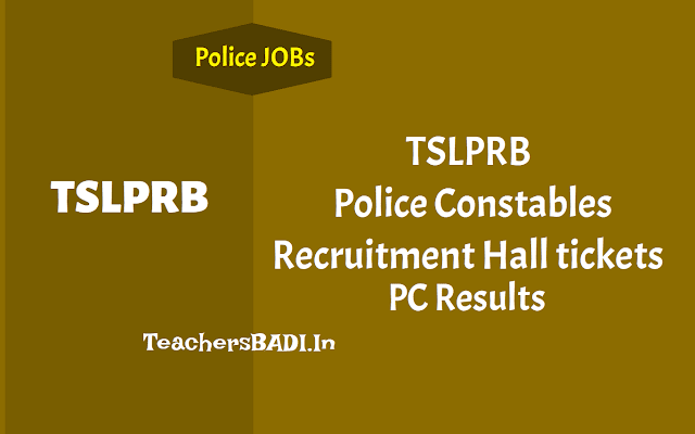 tslprb pc police constable posts hall tickets results 2018,preliminary written test(pwt) results, Preliminary Key,Final key,ts police constables recruitment results