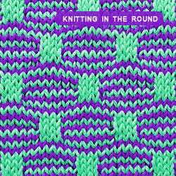 Mosaic Knitting in the round. How to knit the Wave and Box stitch. Free Pattern for Colorful Slip Stitch knitting