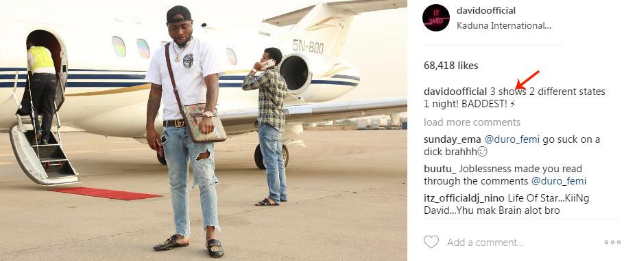 Davido: I make N20million in a day