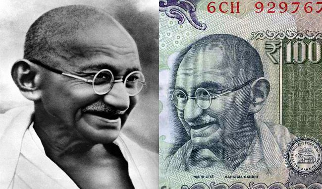 History of Gandhi picture on Indian currency