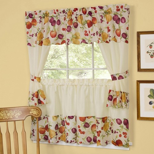aunt jemima kitchen curtains distressed white table design ideas fabric for