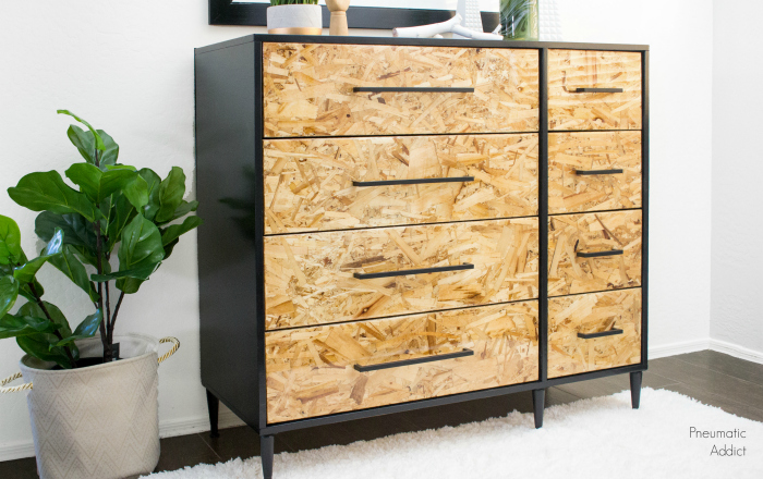 easy epoxy resin osb modern dresser video tutorial