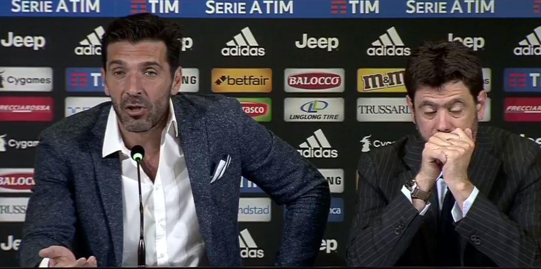 Conferenza stampa di Buffon per l' addio alla Juventus