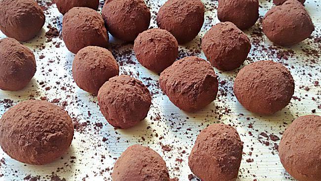 Trufas de chocolate con especias