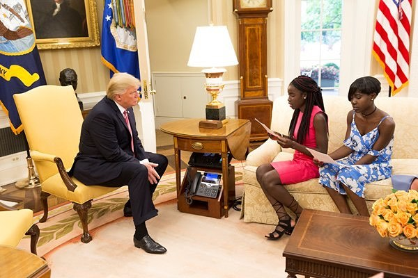 What Chibok schoolgirls told Trump during their visit to the White House