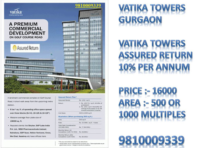 vatika assured return commercial project gurgaon