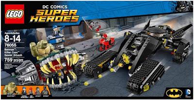 Suicide Squad DC Comics Super Heroes LEGO Set - Batman: Killer Croc Sewer Smash