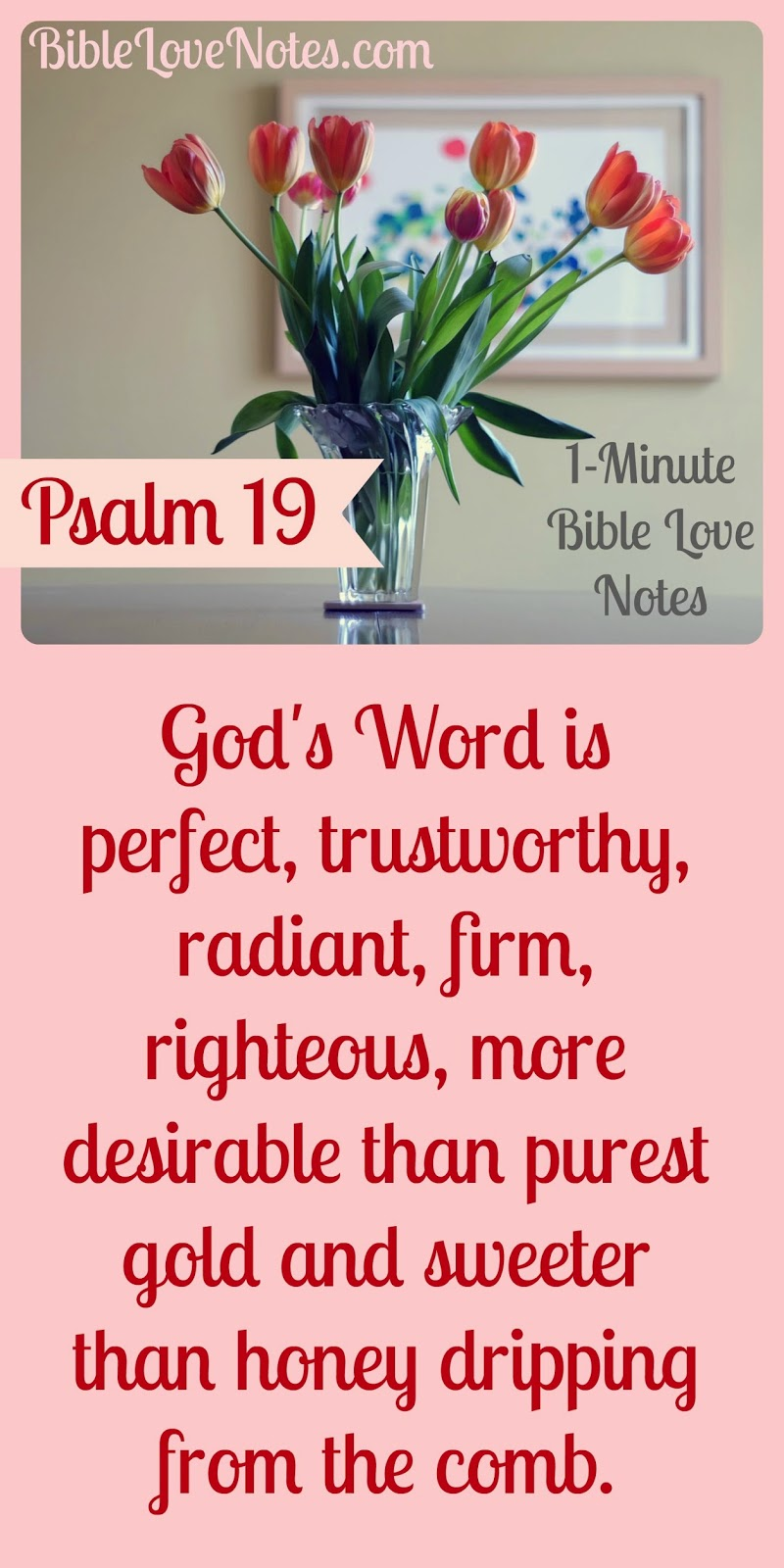 God's perfect Word, Psalm 19