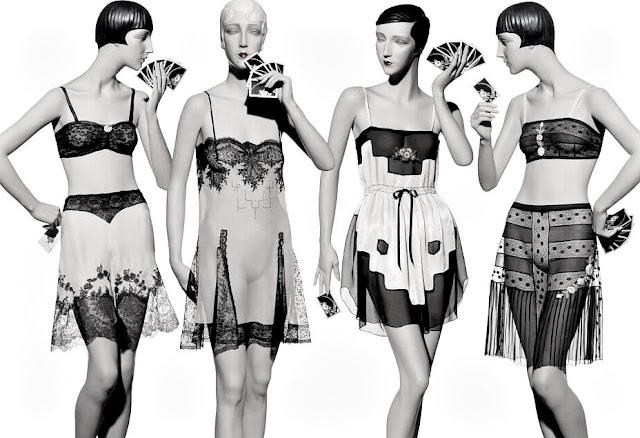 df3d50e3c8c Decorative 1920s lingerie featuring the bandeau bra