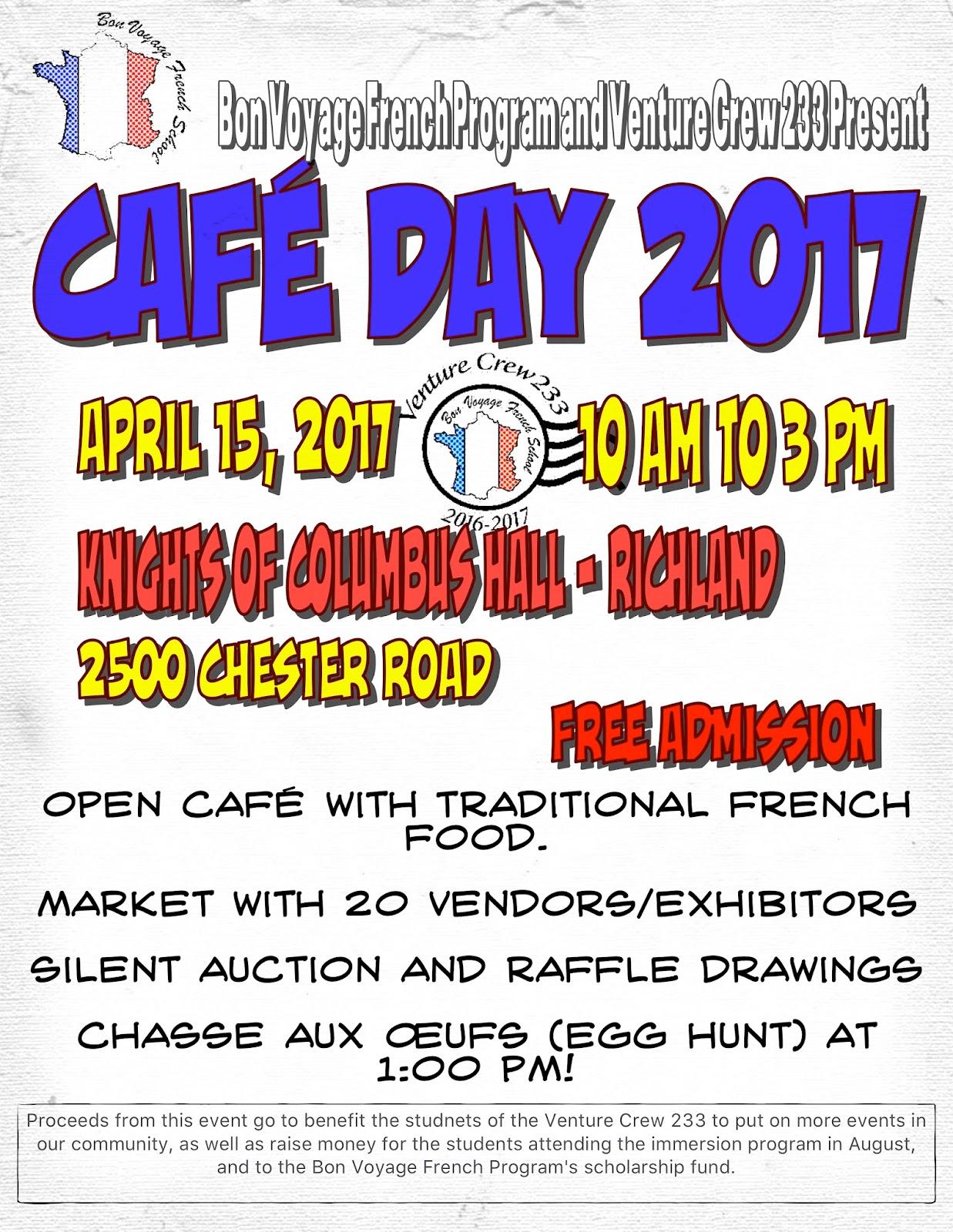 bon voyage french: café day 2017- april 15th
