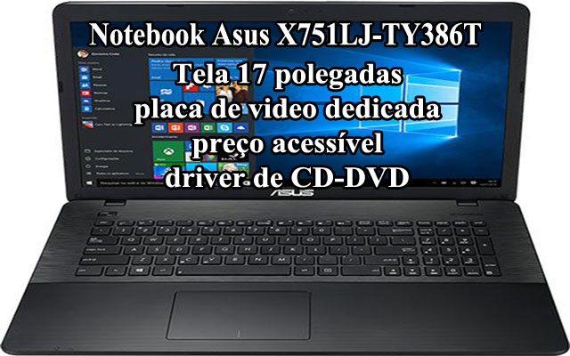 notebook asus Notebook Asus X751LJ-TY386T-171T