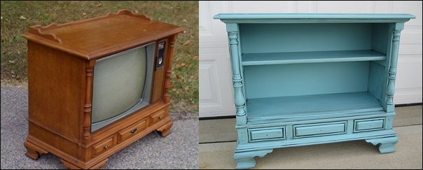 Famous Dishfunctional Designs: Upcycled & Repurposed Vintage Console TV's DM42