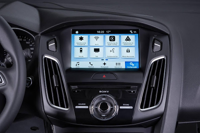 Novo Ford Focus 2017 - interior - sistema multimídia