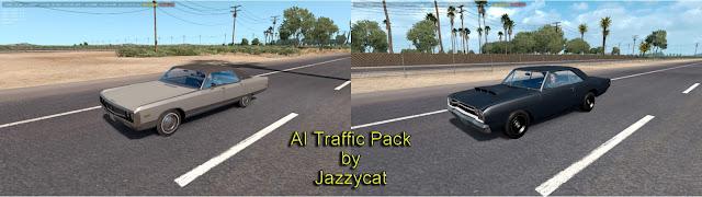 ats classic cars ai traffic pack v3.2 screenshots 1, Chrysler New Yorker '71, Dodge Dart '68