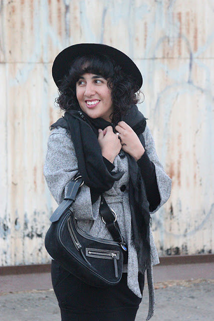 Forever 21 Wool Hat and Dooney & Bourke Black Handbag Winter Outfit | Will Bake for Shoes